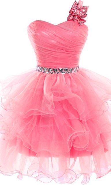 krátké společenské šaty růžové s mašličkou - plesové šaty bc4dc5651d